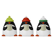 Buy John Lewis Penguin Cake Toppers, Set of 3 Online at johnlewis.com