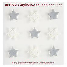Buy Creative Party Snowflake and Stars Icing Toppers Online at johnlewis.com