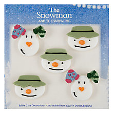Buy Creative Party Snowman and Dog Icing Toppers Online at johnlewis.com
