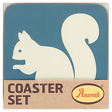 Buy Anorak Kissing Squirrels Coasters, Set of 4 Online at johnlewis.com