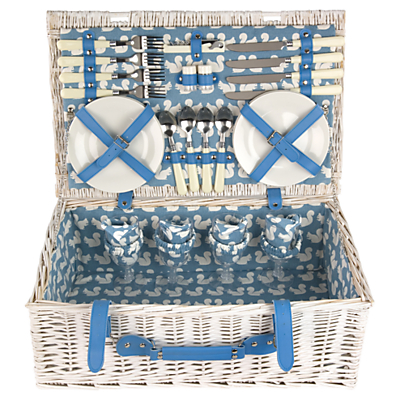 Anorak Kissing Squirrels Picnic Hamper, 4 Person