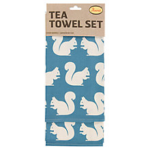 Buy Anorak Kissing Squirrels Tea Towels, Set of 2 Online at johnlewis.com