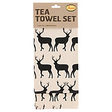 Buy Anorak Kissing Stags Tea Towels, Set of 2 Online at johnlewis.com