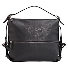 Buy Mango Zip Pocket Hobo Bag, Black Online at johnlewis.com