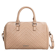 Buy Mango Large Quilted Bowling Bag, Beige Online at johnlewis.com