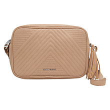 Buy Mango Tassel Quilted Pattern Bag, Beige Online at johnlewis.com