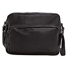 Buy Mango Zip Across Body Bag, Black Online at johnlewis.com