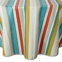 Buy John Lewis Scandi Stripe Wipe Clean Round Tablecloth, Dia.180cm Online at johnlewis.com