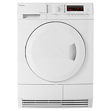 Buy John Lewis JLTDH18 Heat Pump Condenser Tumble Dryer, 7kg Load, A+ Energy Rating, White Online at johnlewis.com