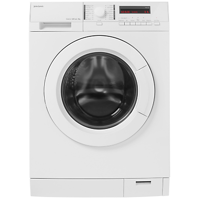 John Lewis JLWM1414 Freestanding Washing Machine, 8kg Load, A+++ Energy Rating, 1600rpm Spin, White