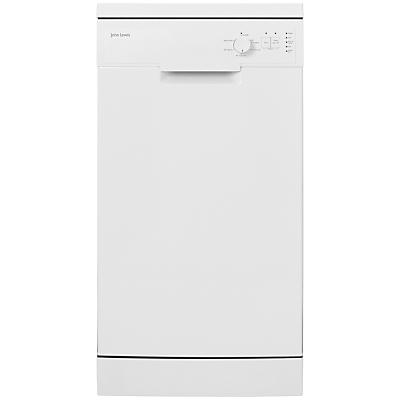 John Lewis JLDWW908 Slimline Freestanding Dishwasher, White