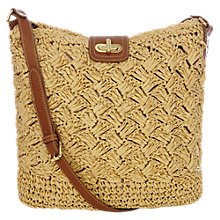 Buy Oasis Crochet Cross Body Bag, Natural Online at johnlewis.com