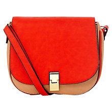 Buy Oasis Jemima Satchel Bag, Coral Online at johnlewis.com