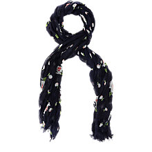 Buy Oasis Blossom Spot Scarf, Navy Online at johnlewis.com