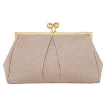 Buy Oasis Glitter Frame Clutch, Gold Online at johnlewis.com