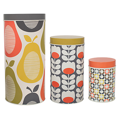 Orla Kiely Kitchen Storage Caddy, Set of 3