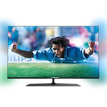 "Buy Philips 55PUS7809 LED 4K Ultra HD 3D Smart TV 55"" with Freeview HD, Ambilight with Monster HDMI Cable Online at johnlewis.com"
