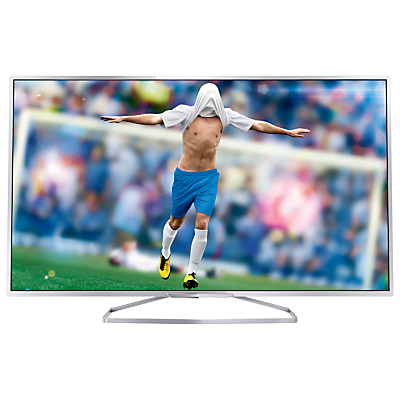 """Philips 55PFS6609 LED HD 1080p 3D Smart TV, 55"""" with Freeview HD, Ambilight and 2x 3D Glasses"""