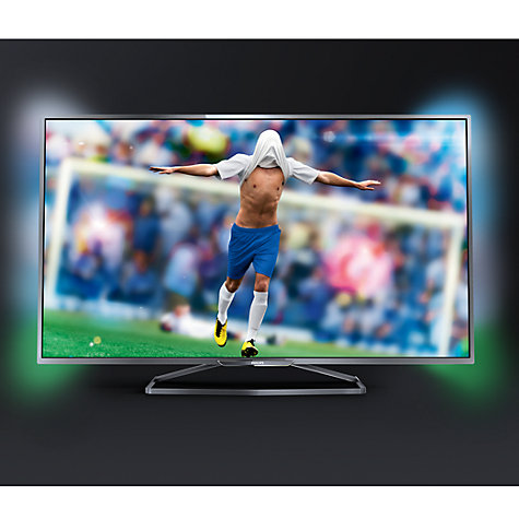 "Buy Philips 55PFS6609 LED HD 1080p 3D Smart TV, 55"" with Freeview HD, Ambilight and 2x 3D Glasses Online at johnlewis.com"