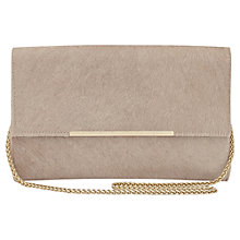 Buy Reiss Ronnie Leather Chain Clutch Bag Online at johnlewis.com