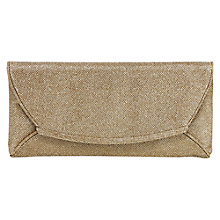 Buy Oasis Chloe Foldover Clutch Bag, Gold Online at johnlewis.com