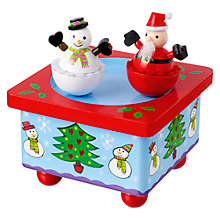 Buy Orange Tree Wooden Christmas Music Box Online at johnlewis.com