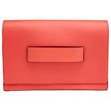 Buy Whistles Mia Loope Handle Clutch, Coral Online at johnlewis.com