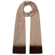 Buy Hobbs Tie Dye Scarf, Marl Chocolate Online at johnlewis.com