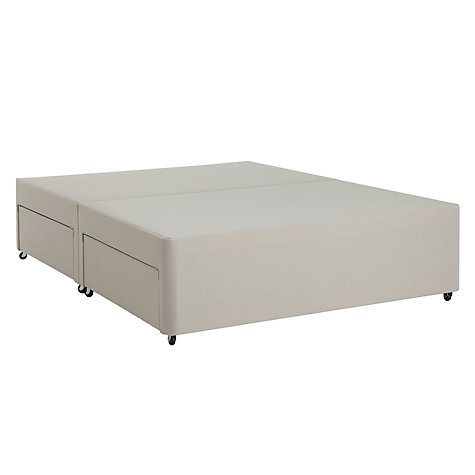 Buy john lewis non sprung 4 drawer divan storage bed for Grey divan king size bed
