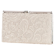 Buy Warehouse Lace Roll Top Frame Clutch, Light Pink Online at johnlewis.com