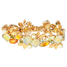 Buy Susan Caplan Vintage 1950s Kramer Amber and Crystal Leaf Bracelet, Gold Online at johnlewis.com