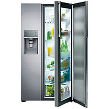 Buy Samsung RH57H90507F American Style Food Showcase Fridge Freezer, Steel Online at johnlewis.com