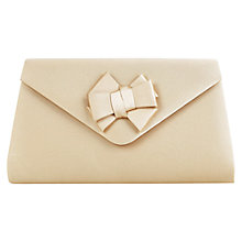 Buy Jacques Vert Bow Trim Clutch Bag, Gold Online at johnlewis.com