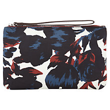 Buy Jigsaw Tulip Print Pouch Bag, Navy Online at johnlewis.com