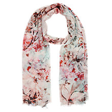 Buy Kaliko Magnolia Floral Print Scarf, Multi Light Online at johnlewis.com
