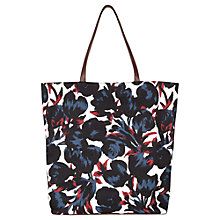 Buy Jigsaw Tulip Print Tote, Navy Online at johnlewis.com