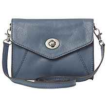 Buy White Stuff Ariane Leather Cross Body Bag, Blue Online at johnlewis.com