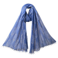 Buy East Anokhi Rambagh Scarf, Ocean Online at johnlewis.com