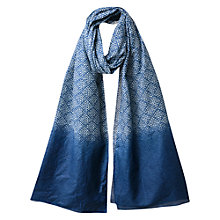 Buy East Block Print Scarf, Azurex Online at johnlewis.com