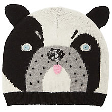 Buy John Lewis Dog Beanie Hat, Black / White Online at johnlewis.com