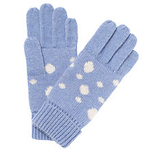 Buy John Lewis Let It Snow Gloves, Pale Blue Online at johnlewis.com