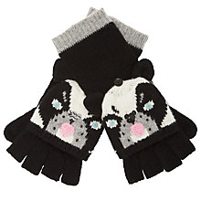 Buy John Lewis Dog Trapper Gloves, Black / White Online at johnlewis.com