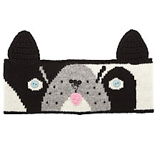 Buy John Lewis Dog Headband, One Size, Black/White Online at johnlewis.com