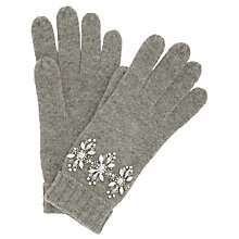Buy John Lewis Jewelled Wool Gloves, Grey Online at johnlewis.com