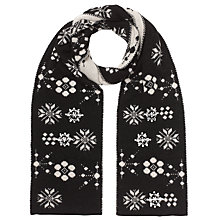 Buy John Lewis Jewelled Snowflake Scarf, Black Online at johnlewis.com