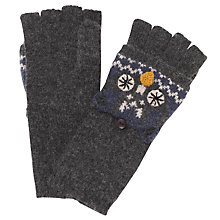 Buy John Lewis Owl Trapper Glove, Blue Online at johnlewis.com