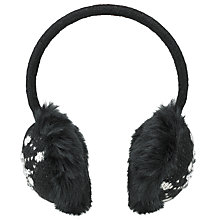 Buy John Lewis Jewelled Snowflake Ear Muffs, Black Online at johnlewis.com