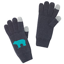 Buy John Lewis Polar Bear Tech Glove, Grey Online at johnlewis.com