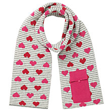 Buy John Lewis Stripe & Heart Tech Scarf, Pink Online at johnlewis.com