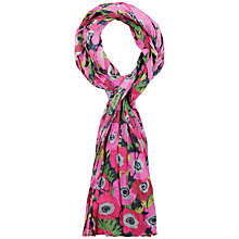 Buy Seasalt Millie Anemonies Floral Print Scarf, Pink Online at johnlewis.com